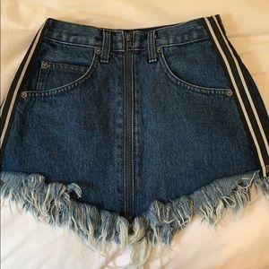 LF/CARMAR Denim skirt with zippers on side
